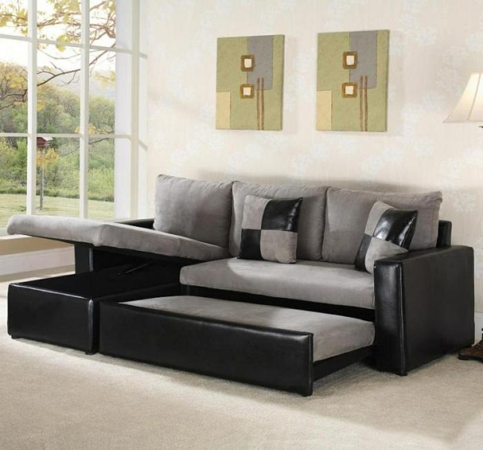 schöne sofas verschiedene modelle schlafsofa ledersofa schwarz dekokissen