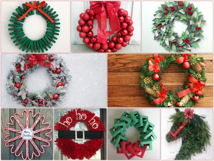 schöne weihnachtsdeko ideen weihnachtskranz selber basteln