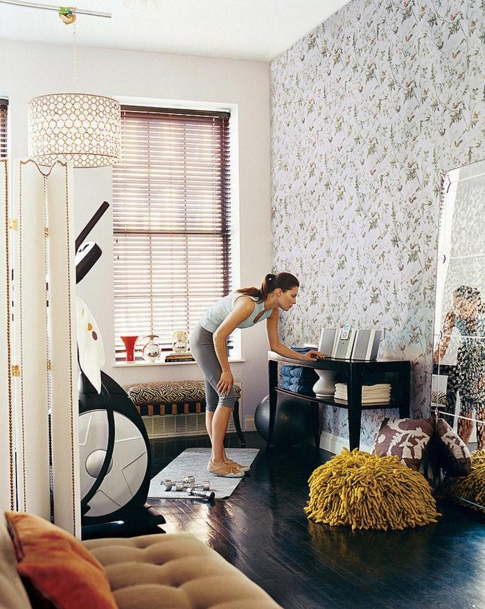 schöne wohnideen fitness geräte integrieren innendesign ideen