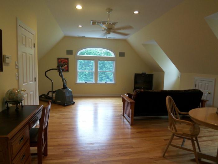 schöne wohnideen fitness zone wohnzimmer geräumig
