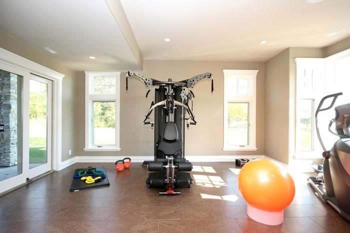 schöne wohnideen home fitness sportraum bodenfliesen