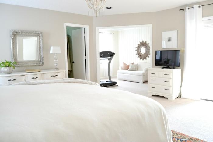 schöne wohnideen schlafzimmer einrichten fitnessbereich gestalten
