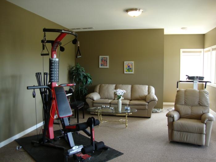 schöne wohnideen wohnzimmer einrichten ideen fitness gerät