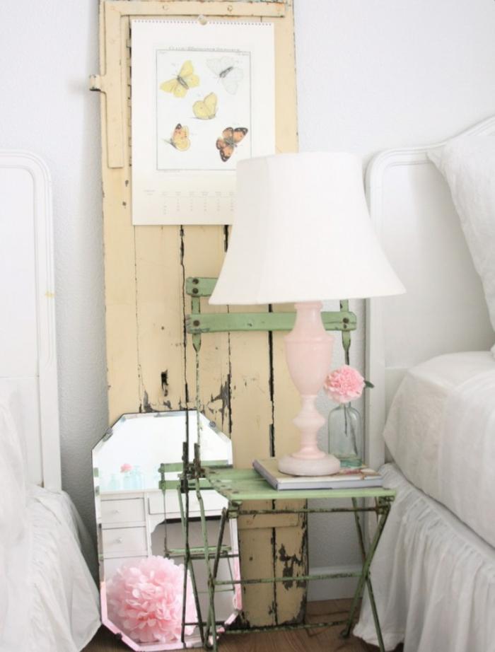 schlafzimmer kommode shabby chic deko möbel stuhl