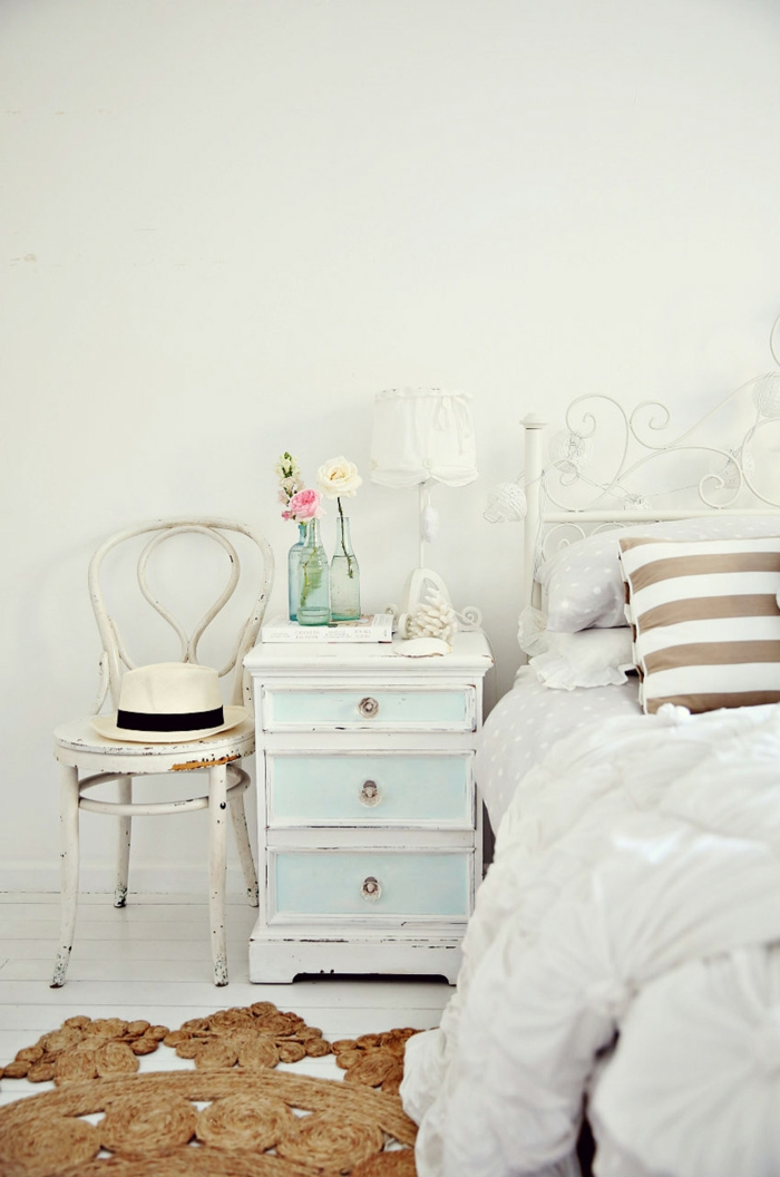 schlafzimmer möbel kommode shabby chic deko stuhl