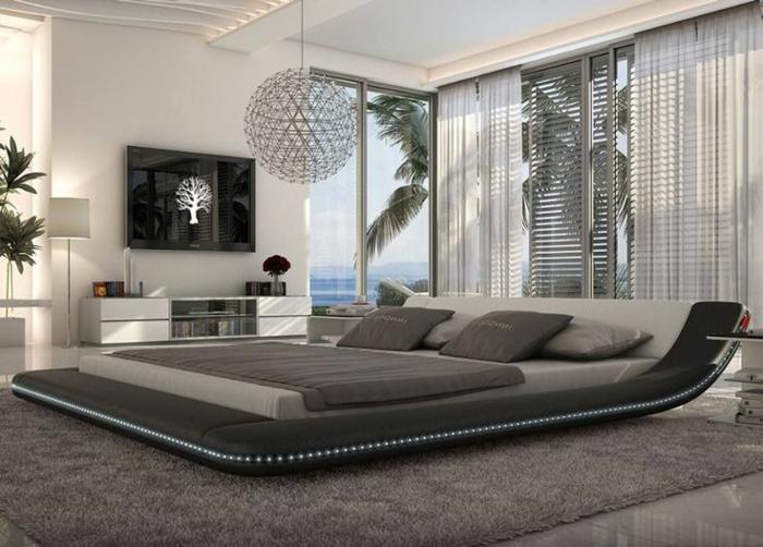 Schlafzimmergestaltung King Size Bett Modernes Design 66  Schlafzimmergestaltung Ideen Für Ihren Gesunden Schlaf Mit Stil ...