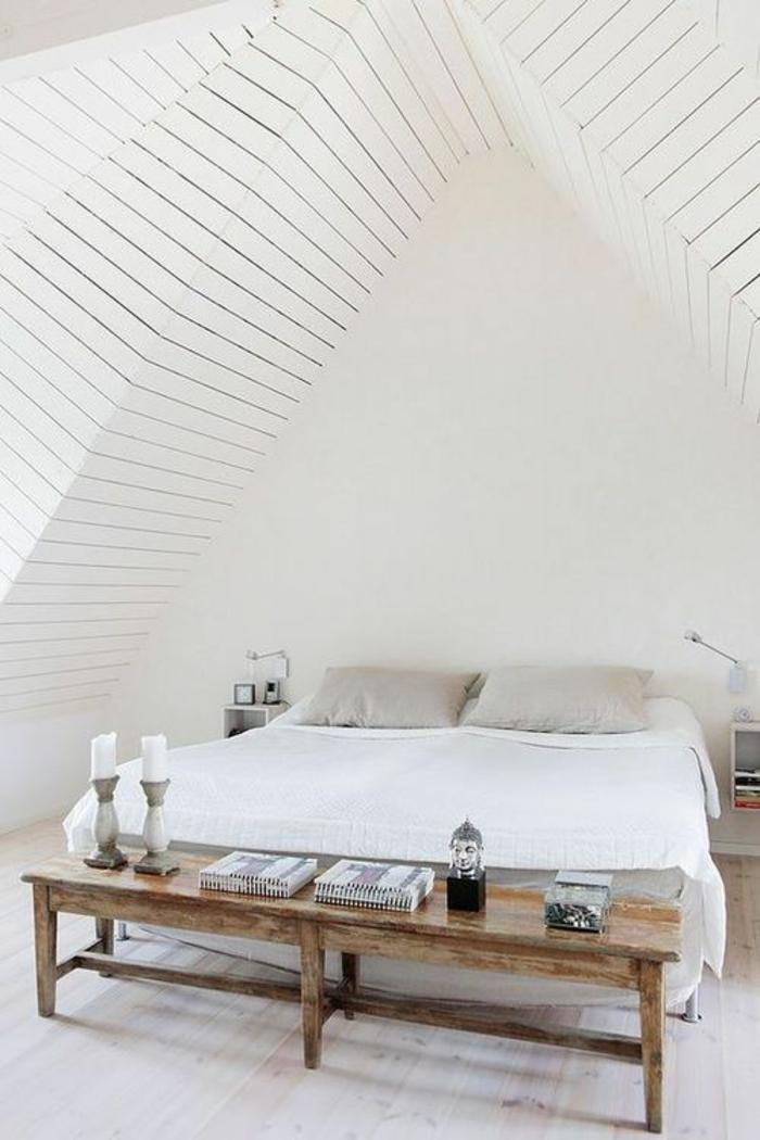 schlafzimmergestaltung minimalistisch skandinavisch holz bettbank
