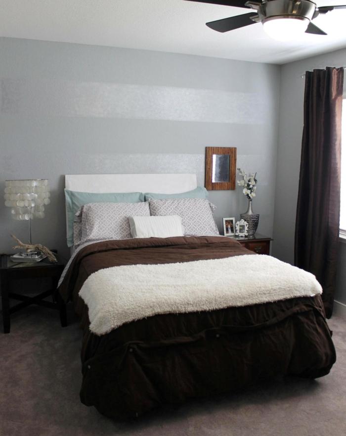 schlafzimmer einrichten tischleuchte neutrale schattierungen