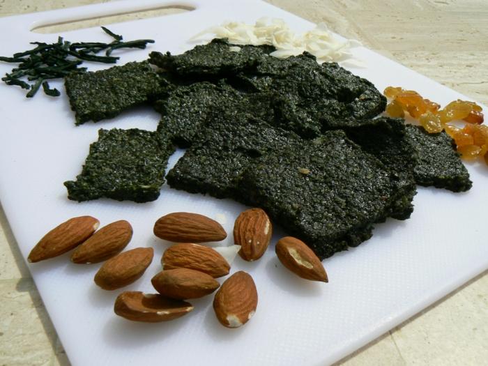 spirulina algen gesunde rezepte polenta trockene früchte nüsse