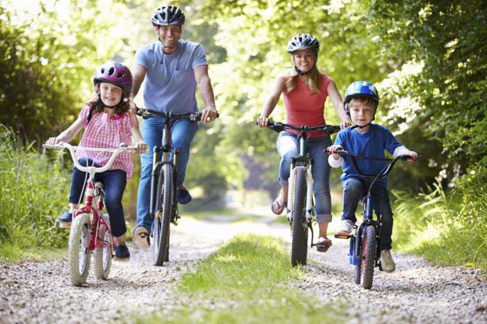 sportarten für kinder rad fahren eltern familie natur