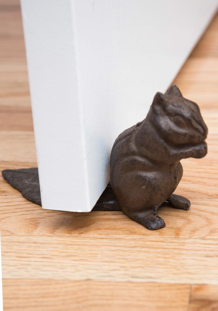 Türstopper nähen wandtürstopper sack edelstahl eichhörnchen