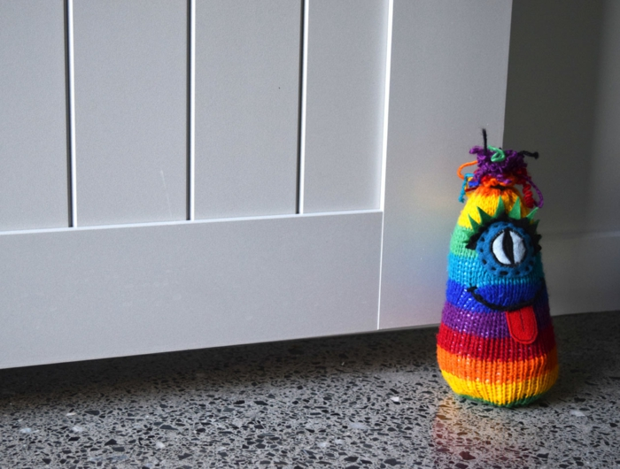 Türstopper nähen wandtürstopper sack türstopper edelstahl regenbogen wesen