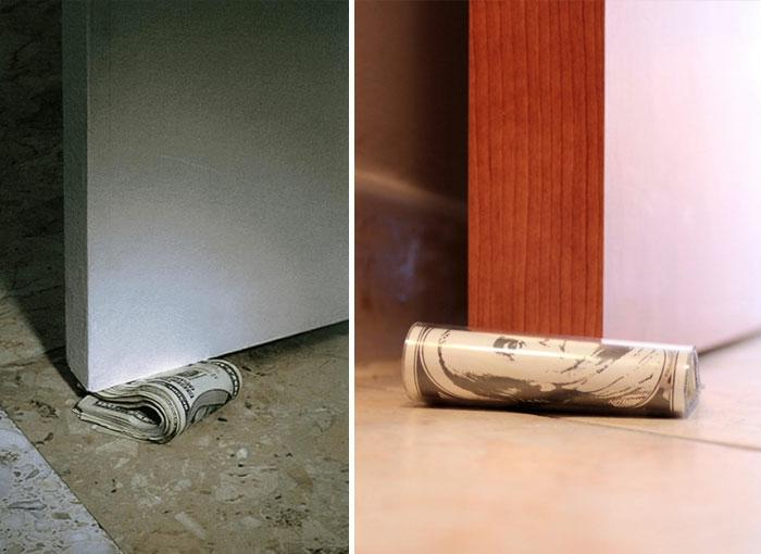 Türstopper nähen wandtürstopper sack türstopper edelstahl türpuffer geldscheine dolar