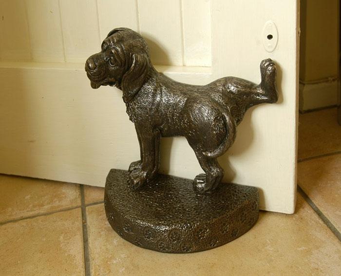 Türstopper nähen türpuffer sack edelstahl türpuffer pinkelnder hund