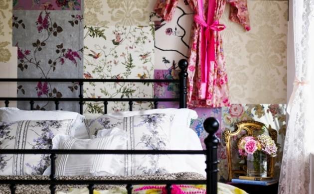 tapete-vintage-cooles-tapetenmuster-schlafzimmer-gestalten