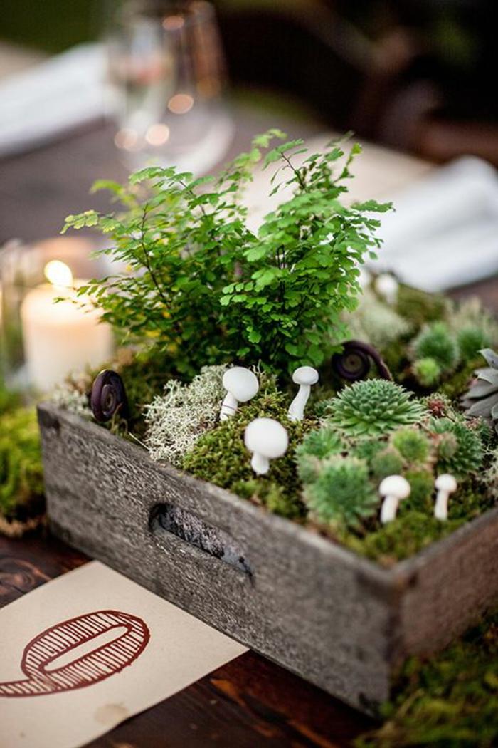 tischdekoration hochzeit bonsai minigärten diy deko