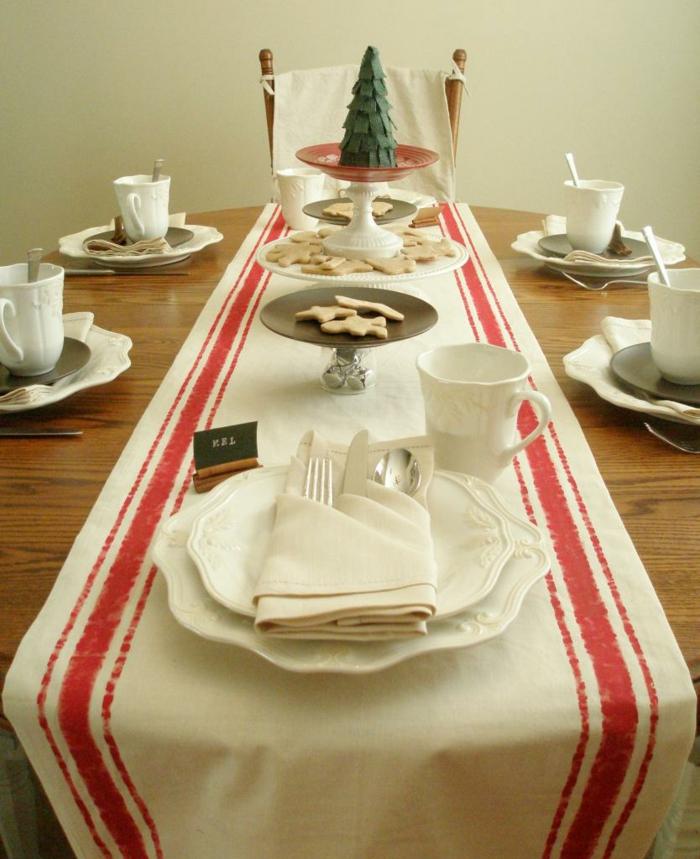 tischläufer weihnachten dekoration esstisch