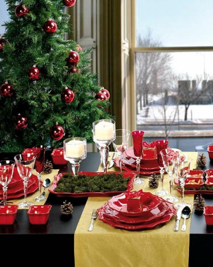 tischläufer weihnachten gelb
