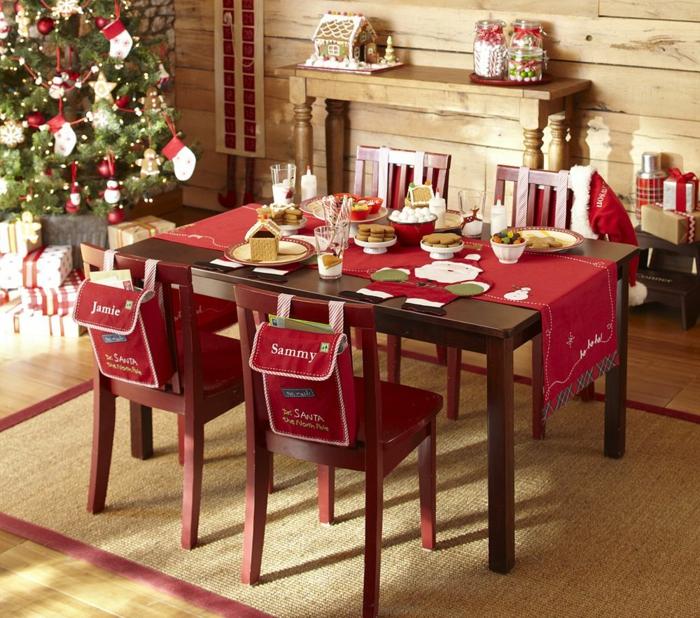 tisch läufer weihnachten schneeflocke rot natur grau