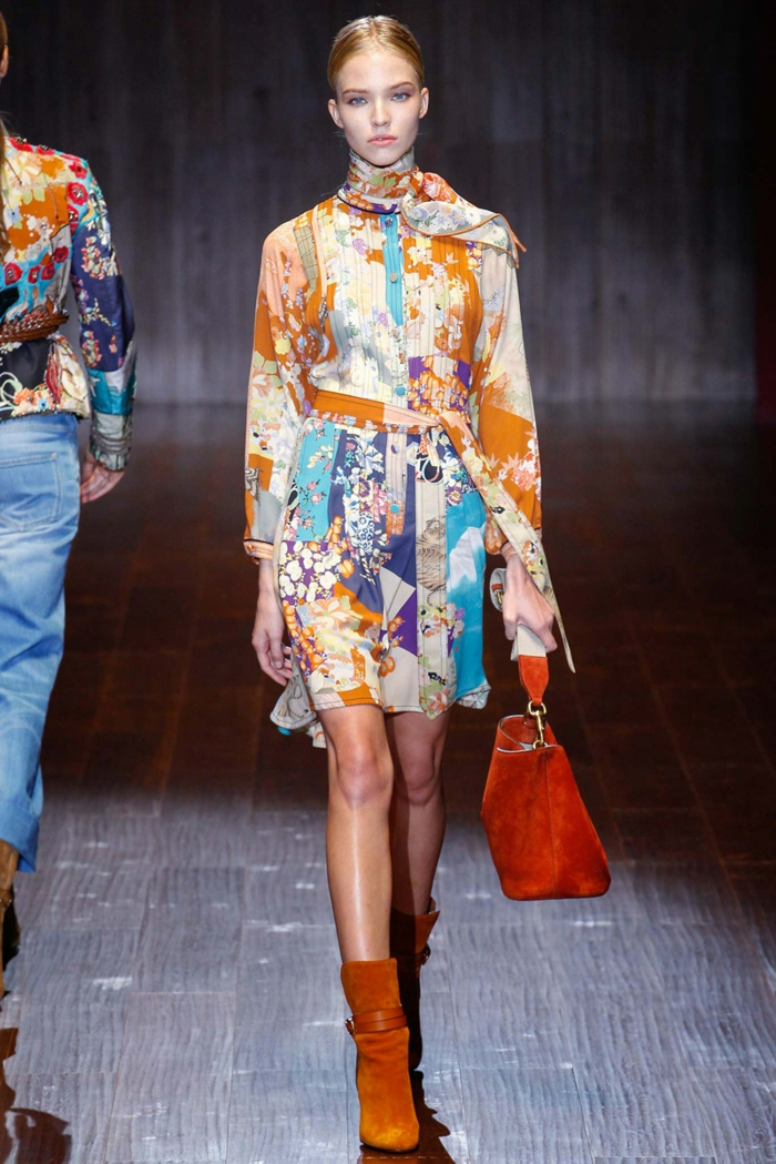vintage kleider herbst damenmode 2015 retro 70er