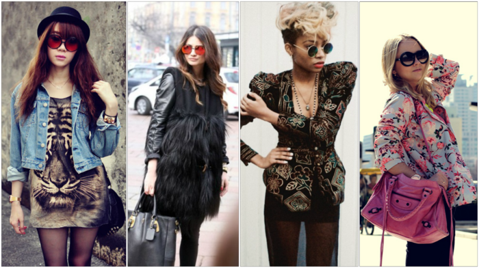 vintage kleider herbst damenmode 2015 runde sonnenbrillen