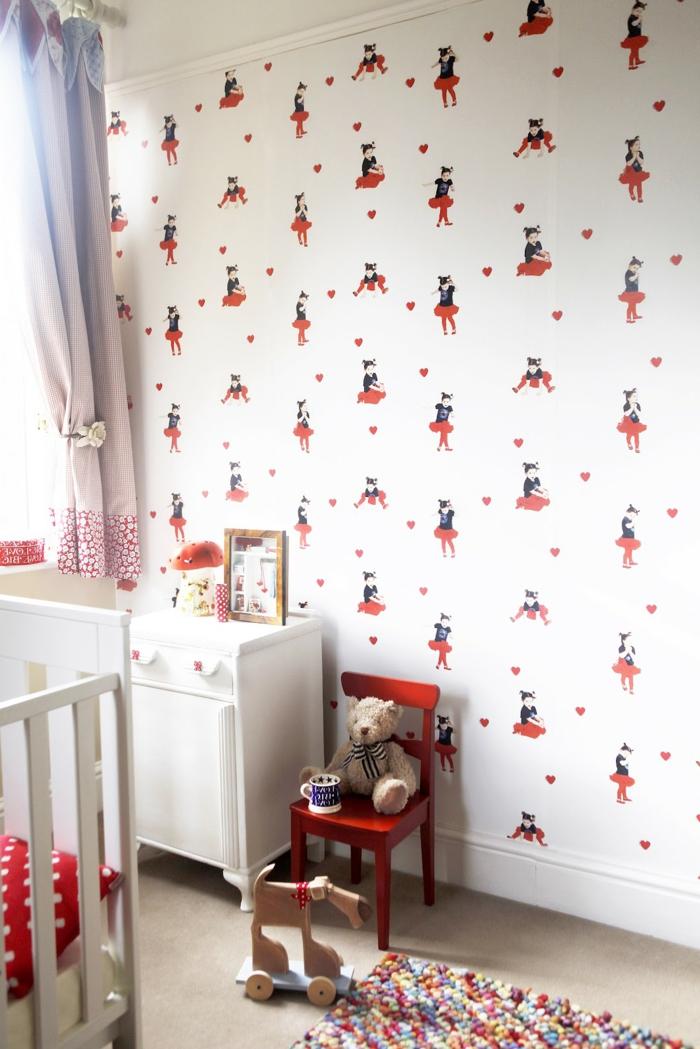 Rote Tapete Schlafzimmer : 50 Vintage Teppiche und Tapeten ? Vintage ist eine Einstellung!