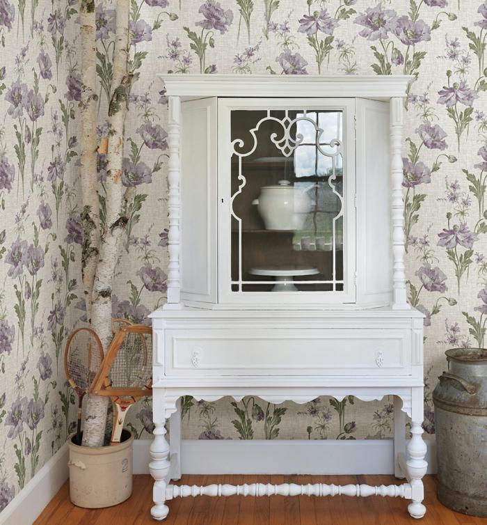 vintage tapete romantisch frisch schöne wohnideen