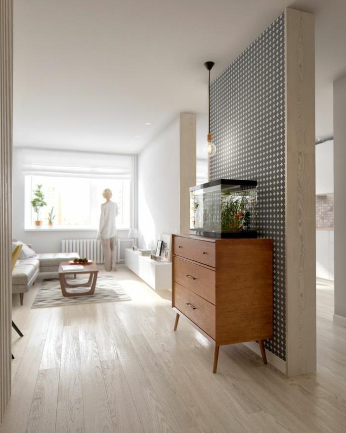 50 vintage tapete ideen die dem raum einen unvergleichbaren charme vermitteln. Black Bedroom Furniture Sets. Home Design Ideas