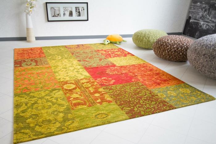 vintage teppiche patchwork farbig frische farbnuancen ebay