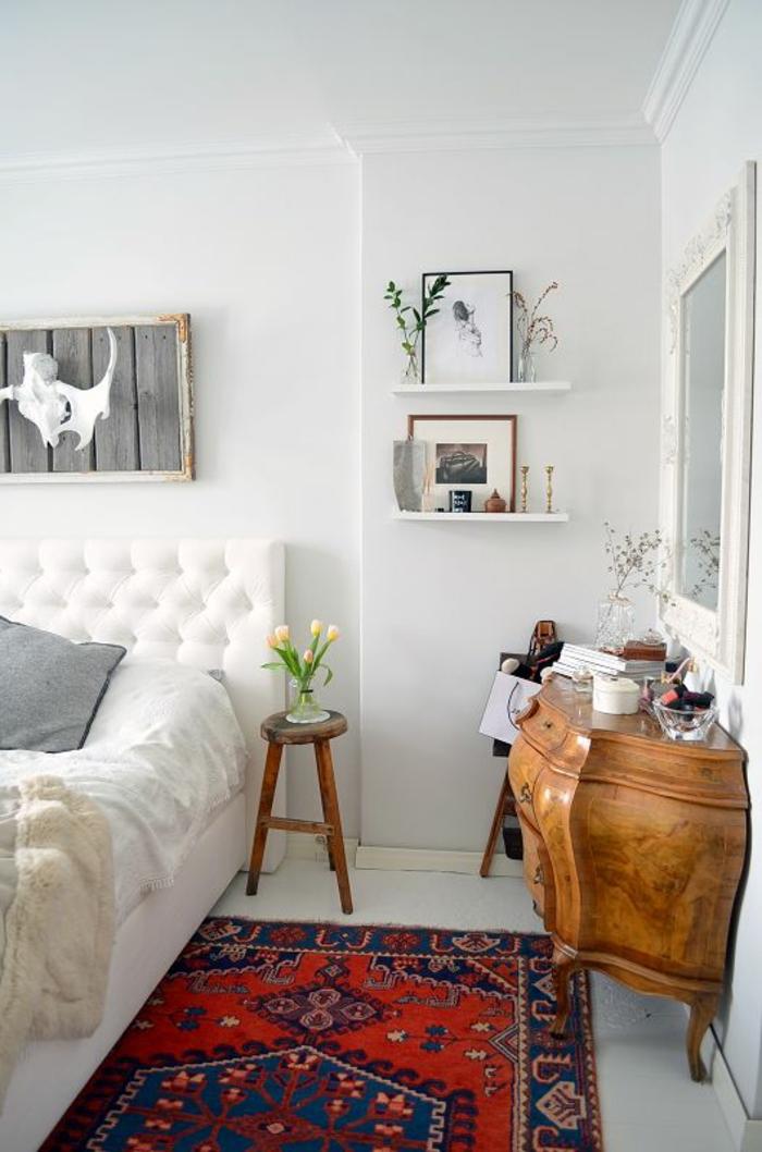 vintage teppiche schlafzimmer einrichten farbiger teppich