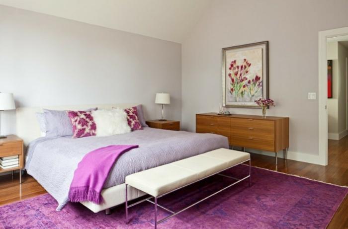 Vintage Teppiche Schlafzimmer Lila Teppich Helle Wandfarbe 50 Vintage  Teppiche Und Tapeten U2013 Vintage Ist Eine Einstellung!