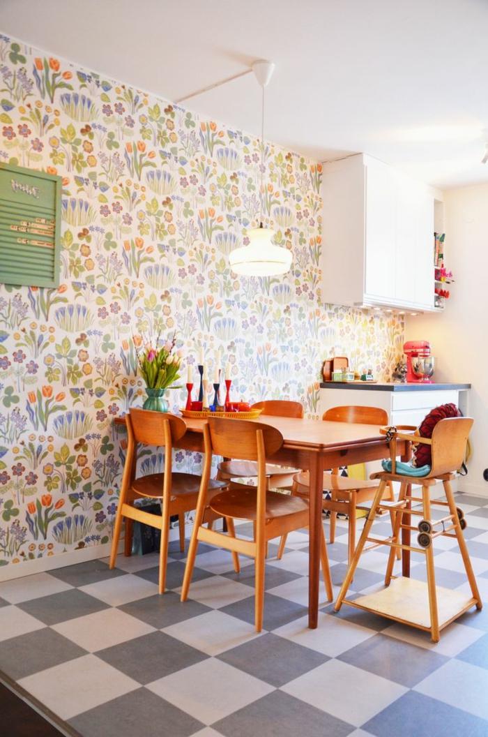 vintage tapete Joseph Frank tapete küche einrichten