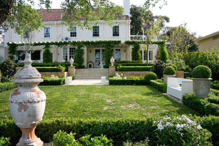vorgarten gestalten großer vorgarten gartenteppen gartendeko