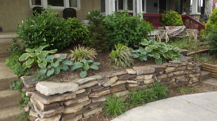 vorgarten gestalten steine gartenpflanzen garten gestalten ideen