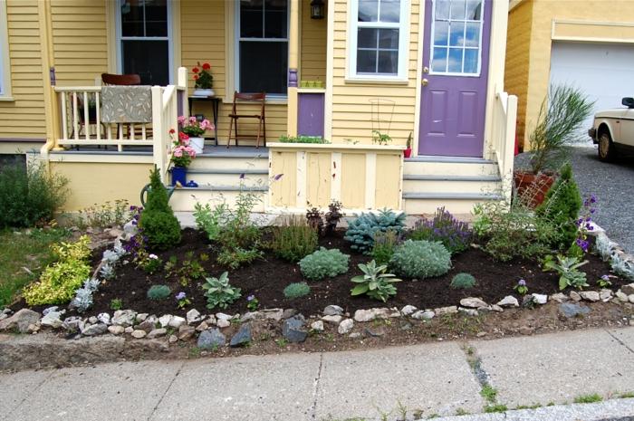 Vorgarten mit pflanzen gestalten 40 ideen wie sie ein for No maintenance house plants