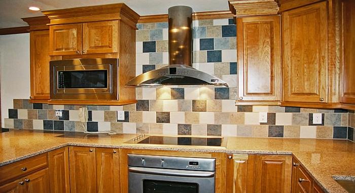 wandgestaltung küche schicke wandfliesen küche einrichten