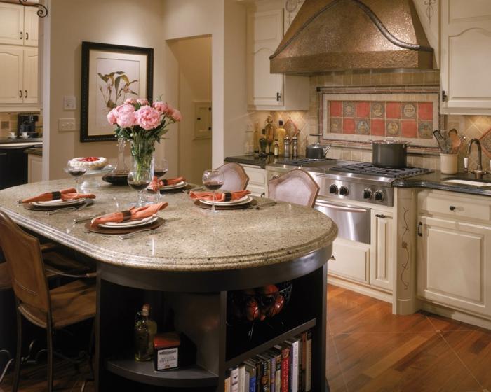 wandgestaltung küche schicke wandfliesen küchenrückwand rosen