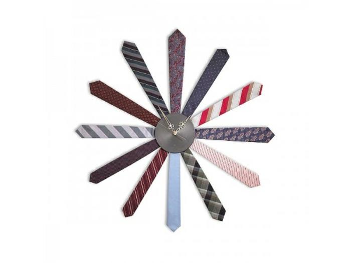 wanduhr ideen krawatten männlich