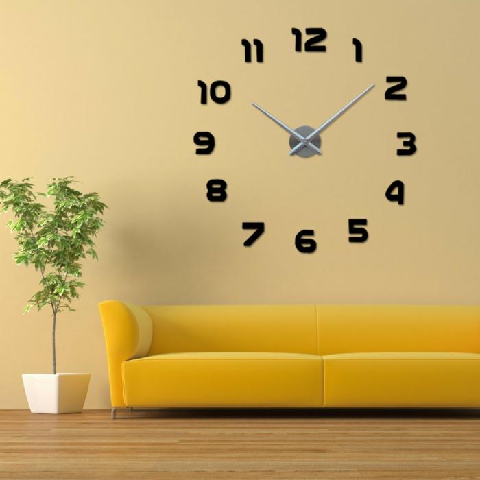 wanduhr design minimalistisch ziffer