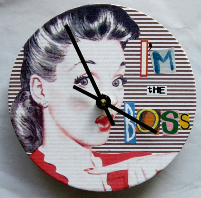 wanduhr design pop art retro