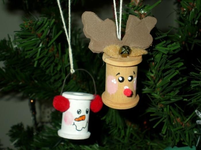 weihnachtliche bastelideen baumanhänger dekoideen weihnachten