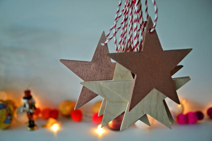 weihnachtliche bastelideen baumanhänger sterne dekoideen weihnachten