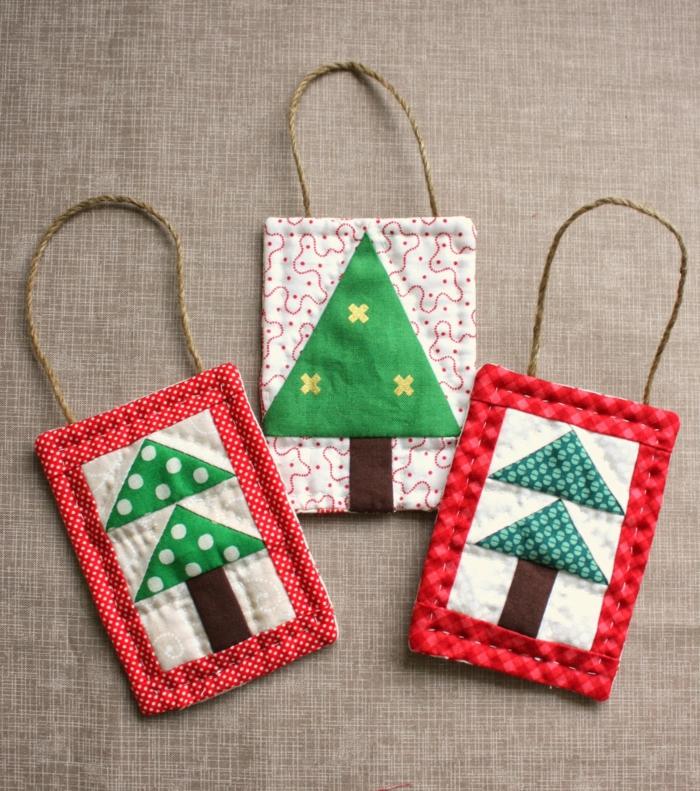 weihnachtliche bastelideen tüten selber nähen farbig lustig