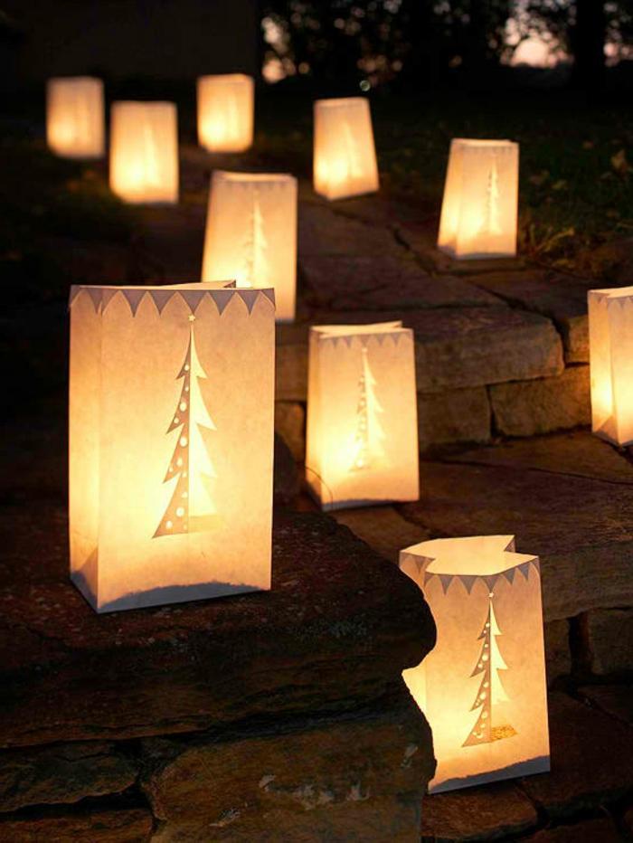 weihnachtsdeko für außen ausgefallene leuchten treppen dekorieren