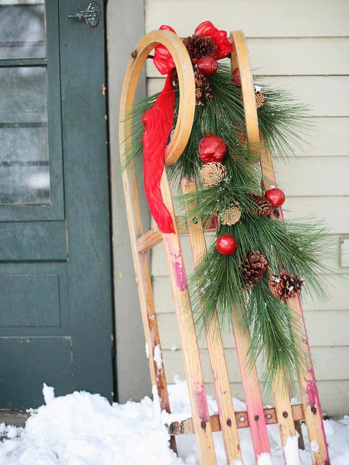 weihnachtsdeko für außen untypisch originell eingang dekorieren