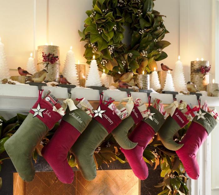 weihnachtsdeko ideen kamin kerzen weihnachtsgeschenke