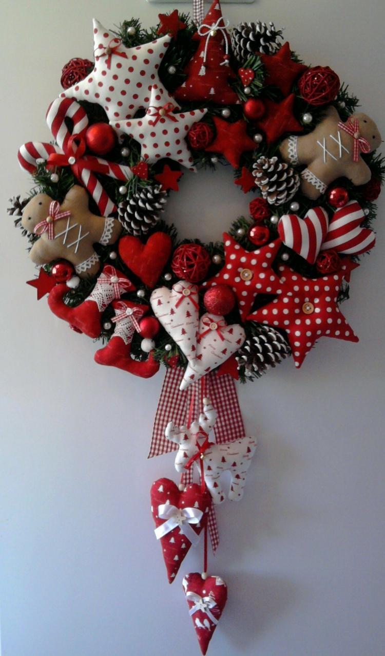 Weihnachtskranz Selber Basteln Diy Projekte Deko Herzen Nähen Weihnachtsdeko