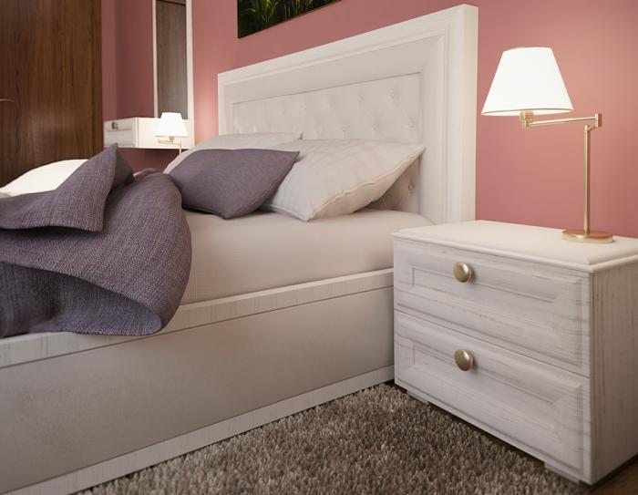 wohnideen schlafzimmer frische wandfarbe tischleuchte weißer nachttisch