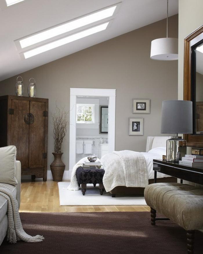 wohnideen schlafzimmer gemütlich klassisch dachschräge