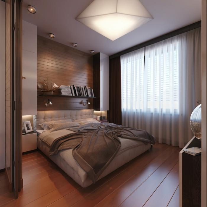 wohnideen schlafzimmer kleines schlafzimmer einbauleuchten wandleuchten